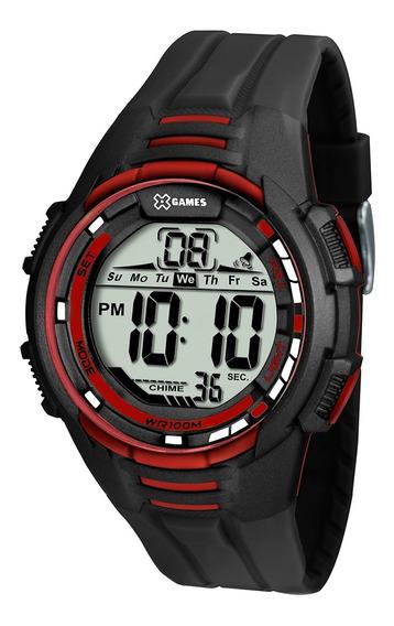 Relógio Masculino X-games Xmppd377-bxpx 44 Mm Borracha Preto