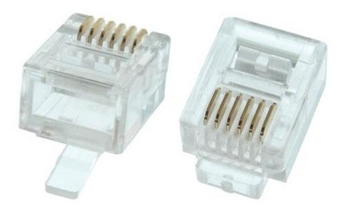 Plug Rj12  6 Pines  6p 6c   100 Pzas   E24