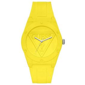 Relógio Guess Retro Pop Silicone Amarelo W0979l12 U0979l12