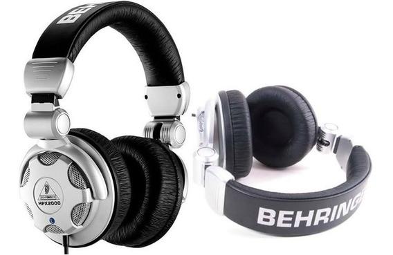 Fone Ouvido Behringer Para Dj Headphone Hpx2000 Novo Lacrado
