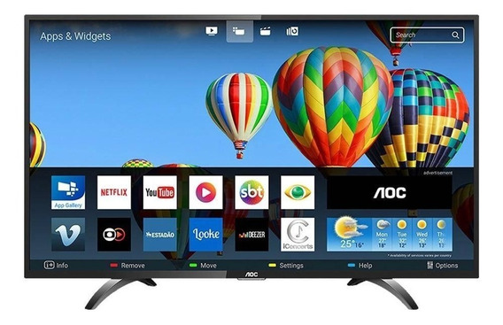 Smart Tv Led 32 Aoc Le32s5970s, Hd, Wi-fi, 2 Usb, 3 Hdmi