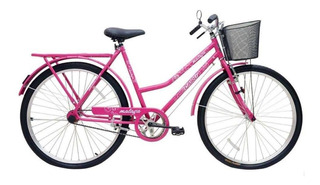Bicicleta Cairu 26 Malaga R Dup C/ct Fem Rosa/pink