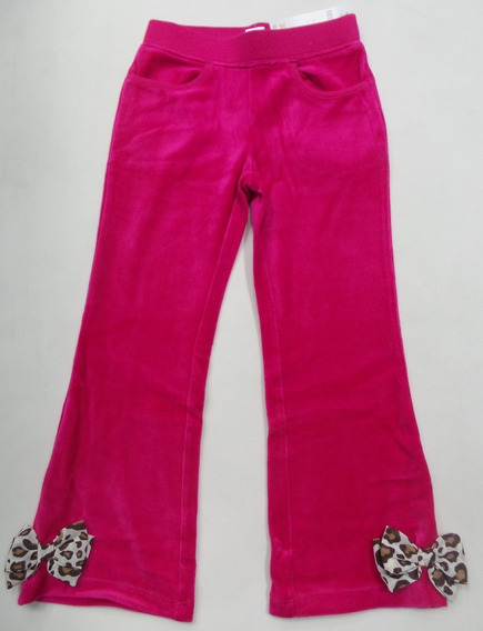 Calça Infantil Gymboree 4anos Veludo Pink Laço Leopardo Eua!