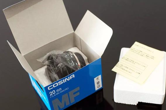 Lente Nova, 20mm F 3,8 Cosina Macro + Adaptador Sony E-mout\nex