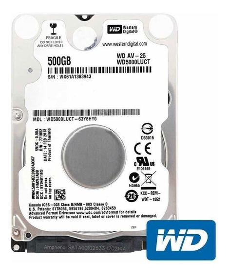 Hd 500gb Sata Notebook Zero Lacrado