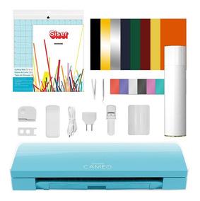 Silhouette Cameo 3 Azul Claro + Kit Vinil + Curso Online