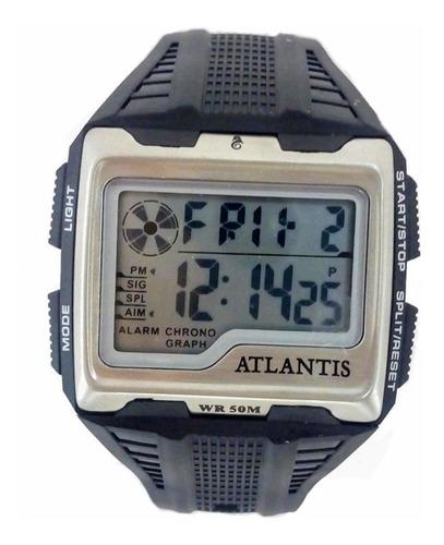 Relógio Masculino Digital Atlantis Quadrado Original 12x S/j