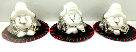 Set De Tres Budas Sabios Buda Porcelana Sabios