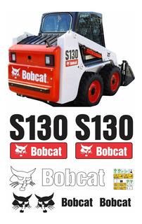 Kit Adesivo Mini Carregadeira Bobcat S130 + Etiquetas Mk
