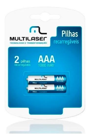 Pilhas Recarregáveis C/ 2 Pilhas Aaa Multilaser - Cb051