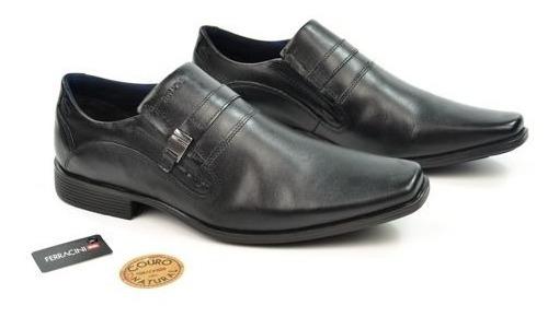 E Sapato Masc 5471-500g Preto Couro Ferracini - 20644