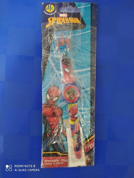 Relógio Infantil Digital De Pulso Homem Aranha Marvel Novo