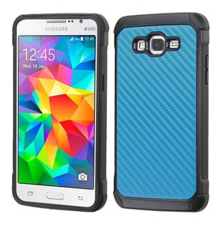 Samsung Galaxy Grand Prime Y Prime Plus Funda Fibra Carbón