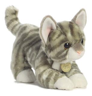 Gato Atigrado Gris De Peluche Aurora Miyoni