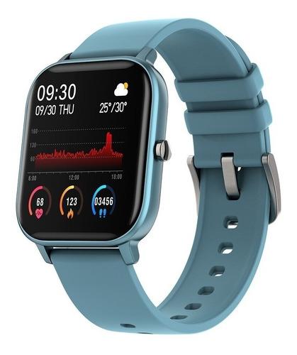 P8 Smartwatch Ciano Relógio Inteligente Com Monitor Cardíaco