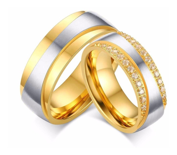 Alianças Banhada Ouro 18k Casamento Tradicional Noivado Ane