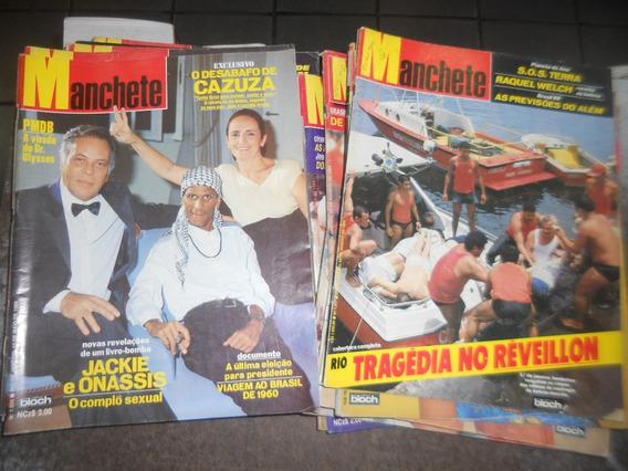 Lote Com 20 Revistas Manchete Da Década De 80
