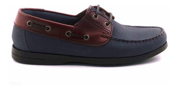 Náutico Hombre Acordonado Cuero Zapato Briganti - Hcna00413