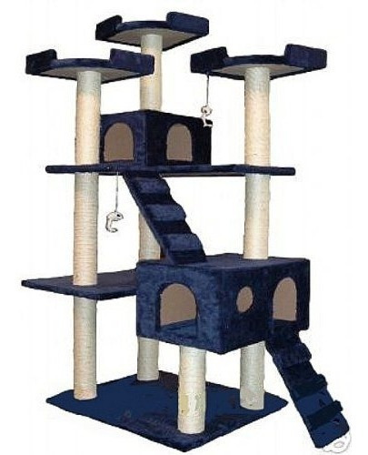 Ir Club Mascota Gato Árbol  50w X 26 L X 72 H  Azul