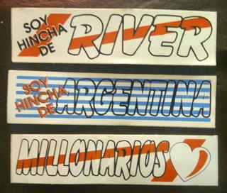 Lote / Calcos Retro/ River Plate /argentina