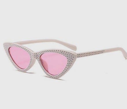 73342127a Óculos De Sol Gatinho Lolita Specs Cat Eye Retro Branco Rosa - R$ 59,00 em  Mercado Livre
