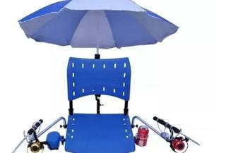 Cadeira Para Barco De Pesca Com Suportes De Guarda Sol E Sup