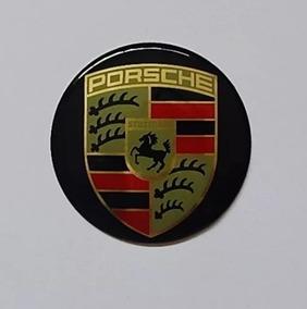 Jogo 4 Pçs Emblema Adesivo Auto Colante Porsche 69mm / 6,9cm