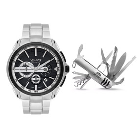 Kit Relógio Masculino Orient Mbssc185kv63p1sx - Prata/preto