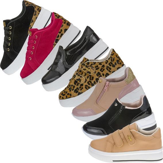 04 Pares Tenis Infatil Menina Casual Sneaker Calce Facil