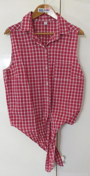 Camisa A Cuadros Mujer L Impecable