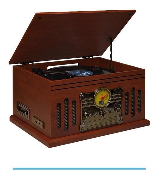 Vitrola Raveo Stadio Toca-discos Cd K7 Usb Radio Bluetooth