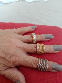 Anéis Folheados A Ouro E Ródio Usados