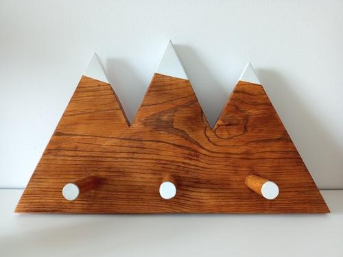 Perchero De Madera Montaña Twin Peaks