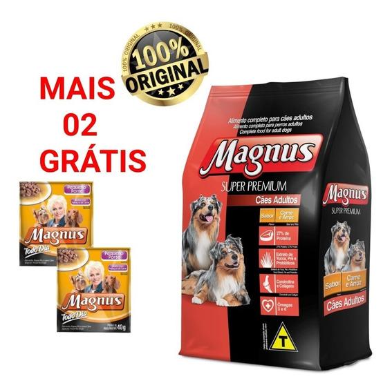 Maguns Super Premium Adulto Carne/arroz 15kg + Brinde