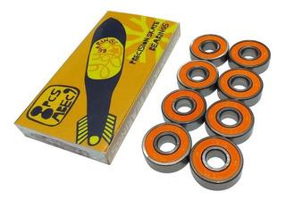 Baleros Yoyo Bearings Abec 9 Naranja De Patinetas Skate