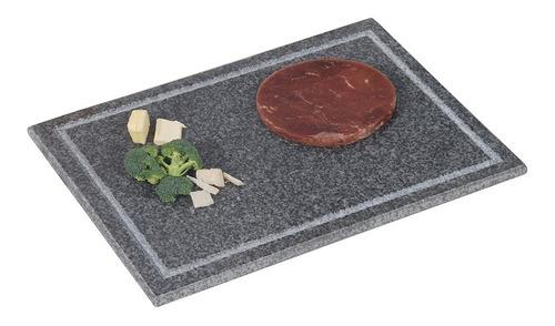 Tabla Rectangular En Granito Negro Con Ranura 40x30x1,5 Cm