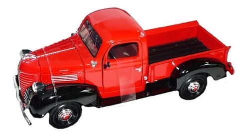 Camioneta Plymouth Clásica 1941 Escala 1:24 Largo 20cm Aprox