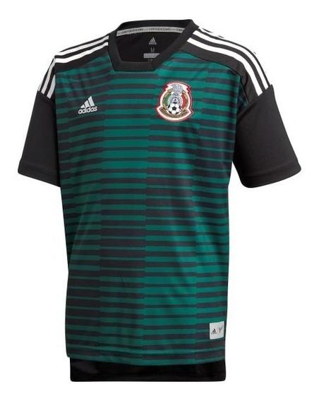 Playera Prepartido Selección México Local Niño 2018 Cf1545