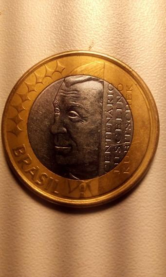 Moeda 1 Real Comemorativa Centenário Juscelino Kubiitschek