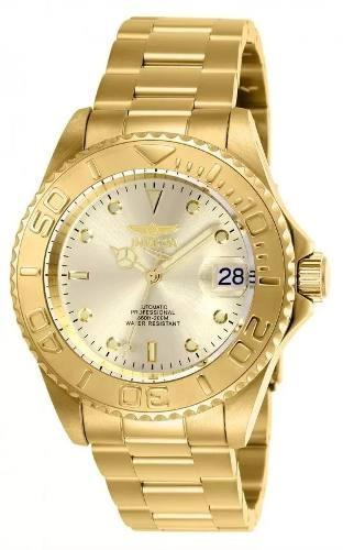 Relógio Invicta 9010ob Feminino Automático Banhado Ouro 18k