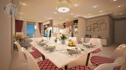 Imagem 1 de 27 de Apartamento 3 Dormitórios Excelente - 141 M² Por R$ 920.000 - Canto Do Forte - Praia Grande/sp - Ap0022