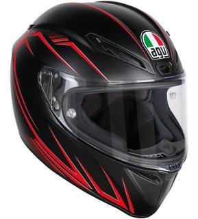 Casco Integral Agv Veloce S Predator Negro Mate/rojo