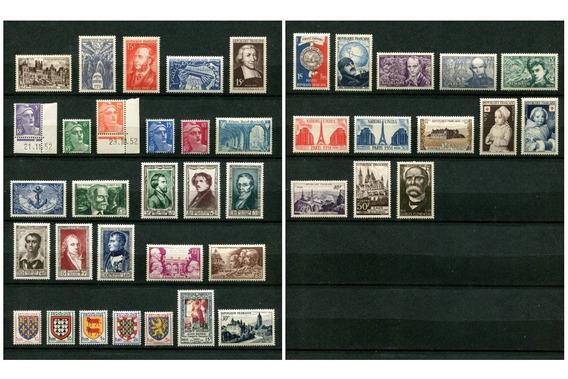 Sellos Francia Año 1951 Completo Yvert 878-918 Mnh