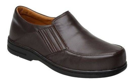 Sapato Para Diabéticos Couro Super Conforto - Doctor Pé 6600