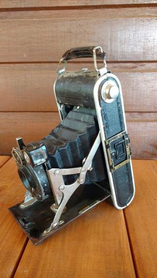 Máquina Fotográfica Antiga Fole Sanfona Zenith Masson Rara