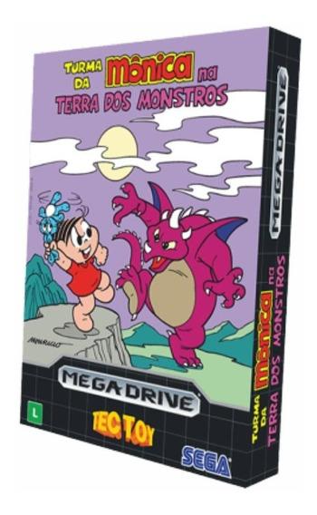 Cartucho Sega Turma Da Mônica Na Terra Dos Monstros Tectoy