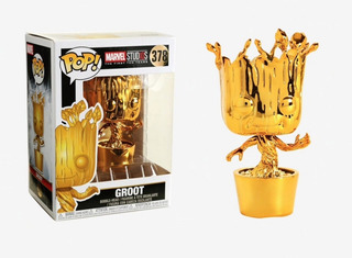 Funko Pop Groot Gold Chrome