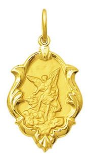 Medalha De Ouro 18k De Santos 1,5cm Escolha Seus Santos