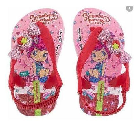 Chinelo Feminino Infantil Ipanema Moranguinho Rosa 25511