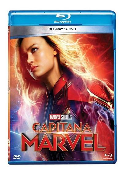 Capitana Marvel Brie Larson Pelicula Bluray + Dvd Slipcover